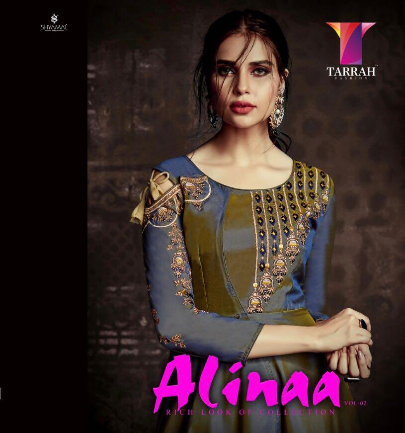 Tarah Alinaa Vol 2 Tafeta With Embroidery Wholsale