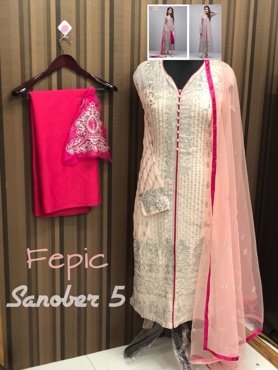 Fepic Rosemeen Sanober Hits Georgette Embroidered Wholesale