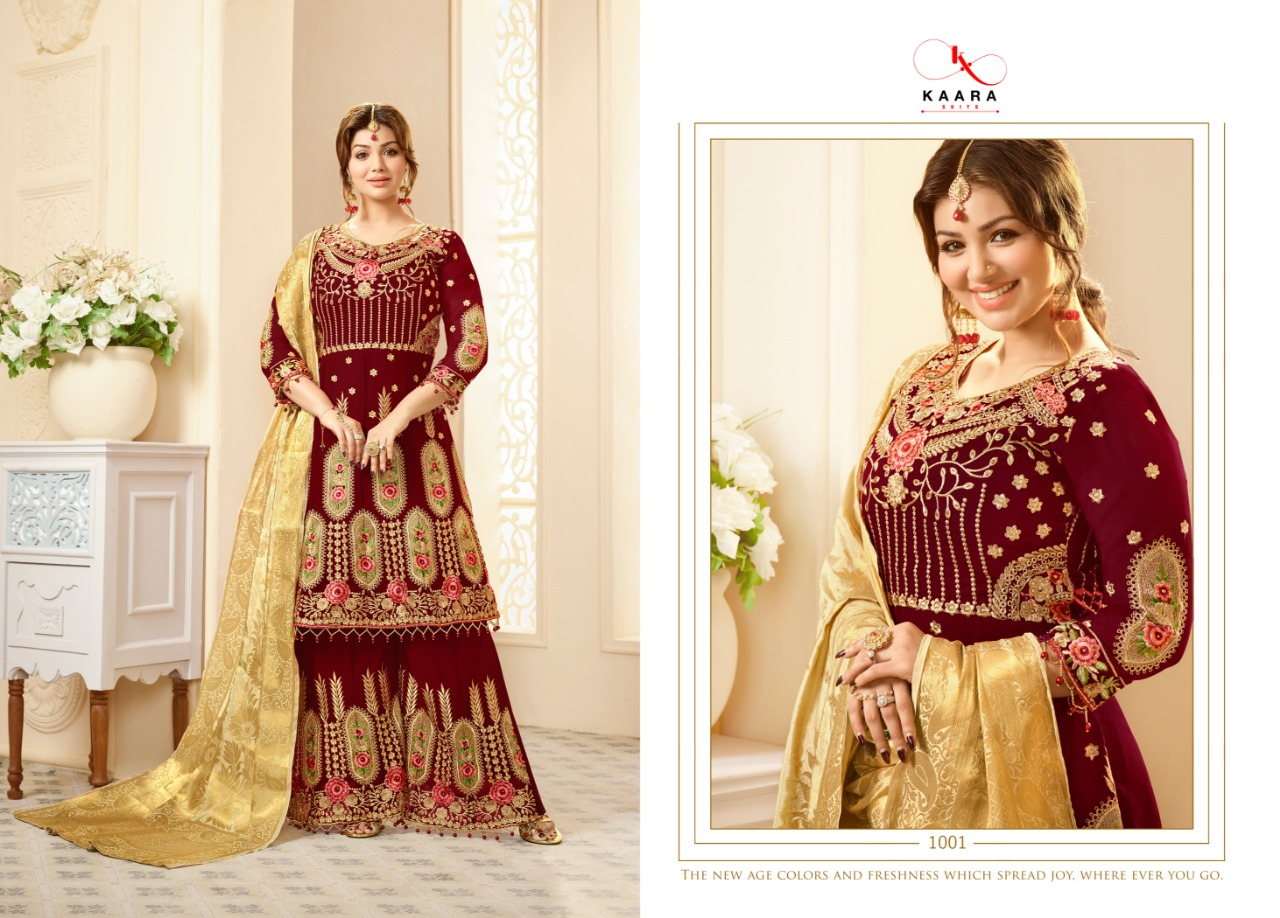 Karaa Suits Delight Bridal Collections Georgette Embroidered