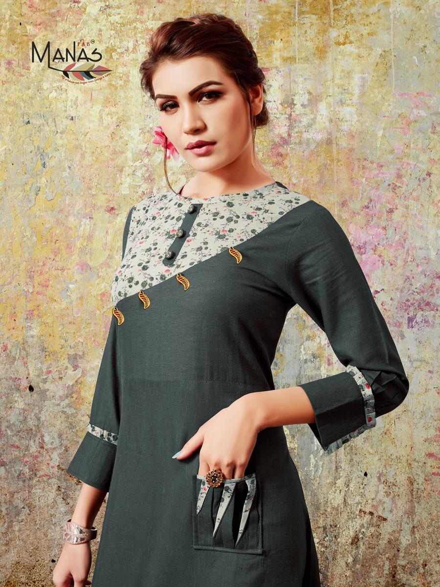 Manas Khushi Vol 1 Designer Partywear Kurti Wholesale