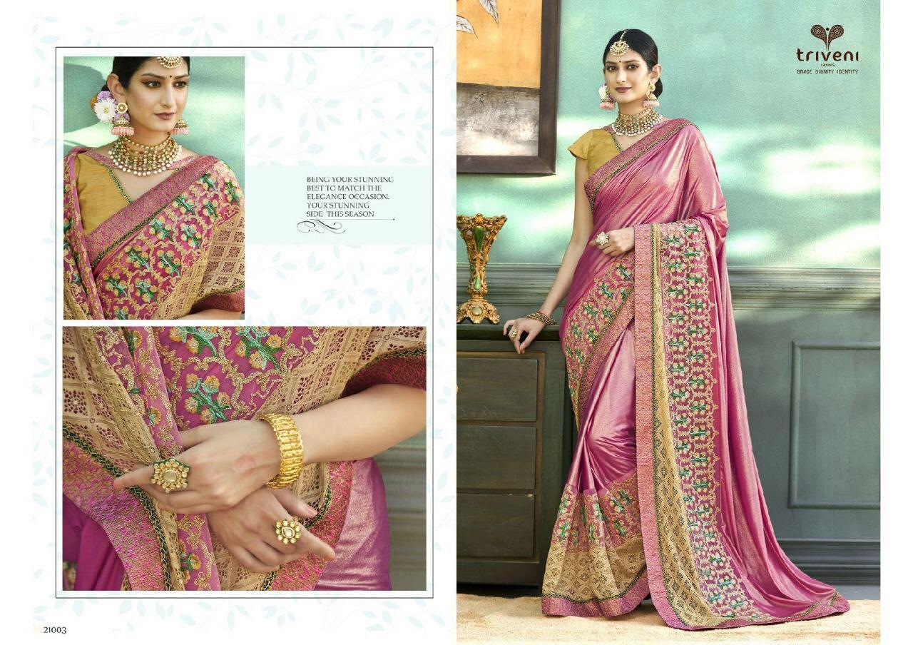 Triveni Keesthy Designer Embroided Saree Wholesale