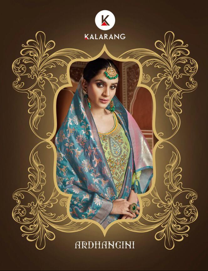 Kalarang Ardgangini Designer Khatli Embroidry Suit Wholesale