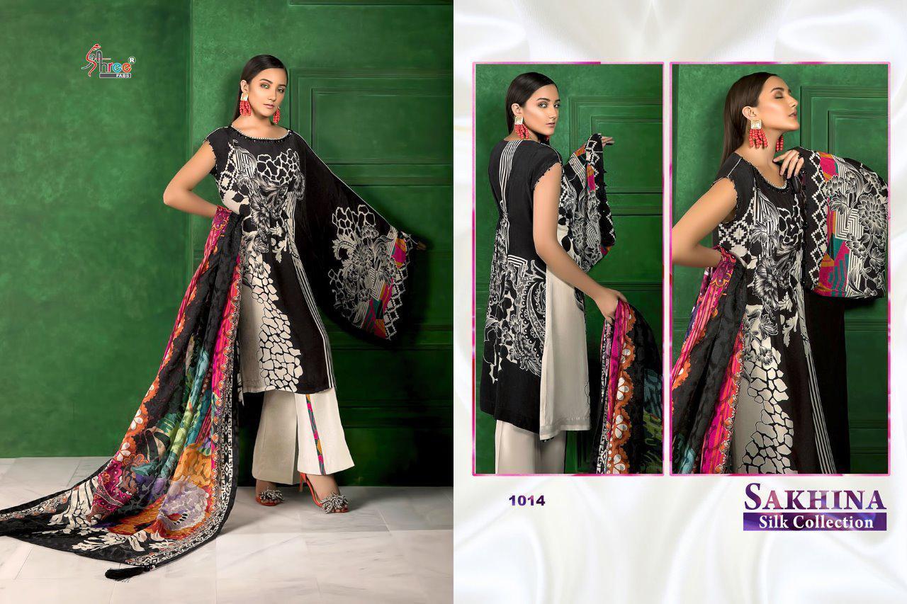 Sakhina Silk  Designer Suits With Digital Print Wholsale