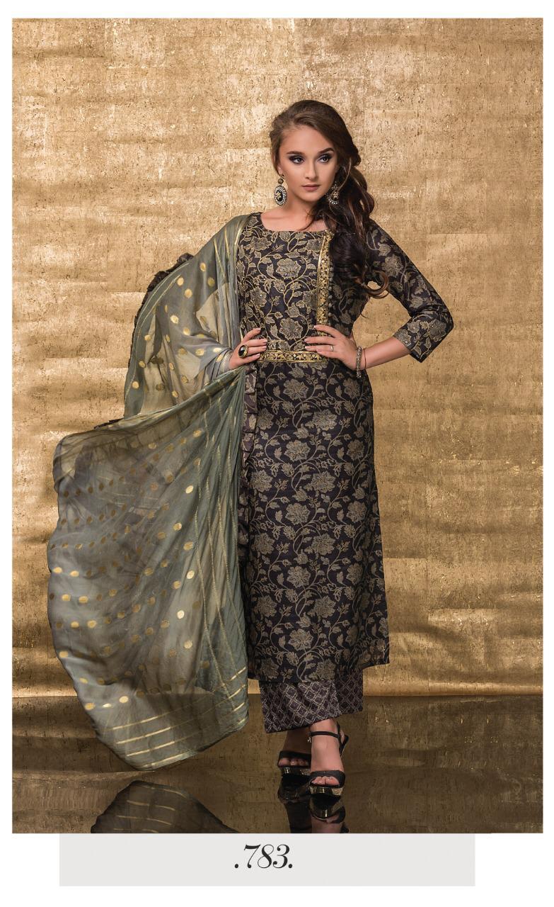Sri Goldrush Present Heavy Semi Stitched Suits Wholesale