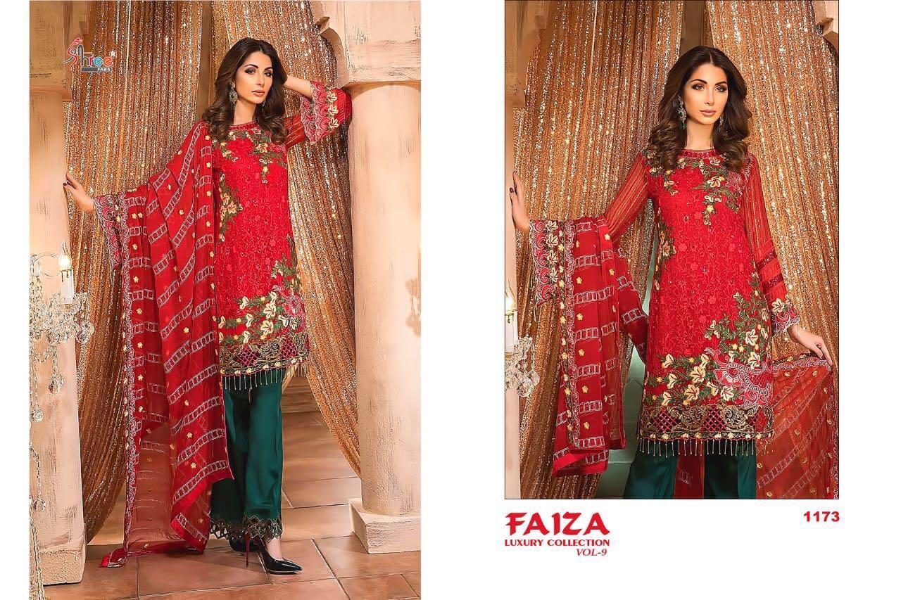 Shree Fab Faiza Vol 9 Present Designer Suits Wholesale