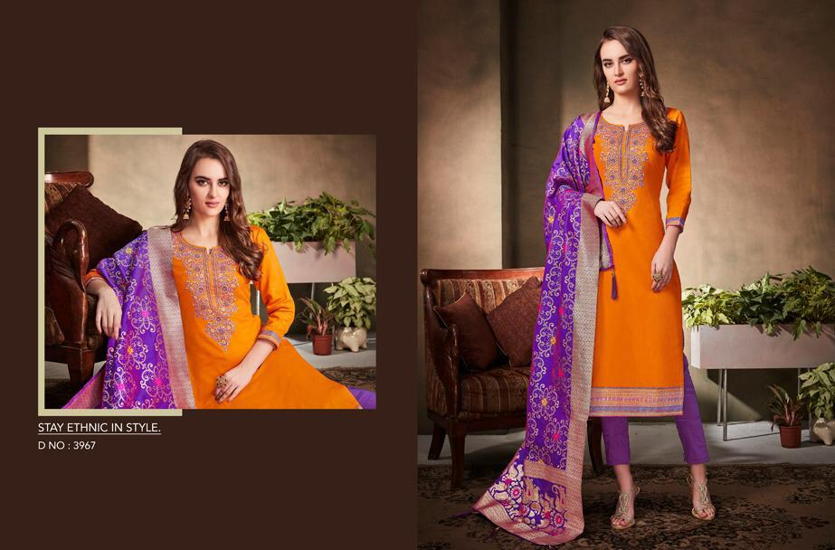 Kessi Fabrics Virasat Vol Designer Heavy Work Suit Wholesale