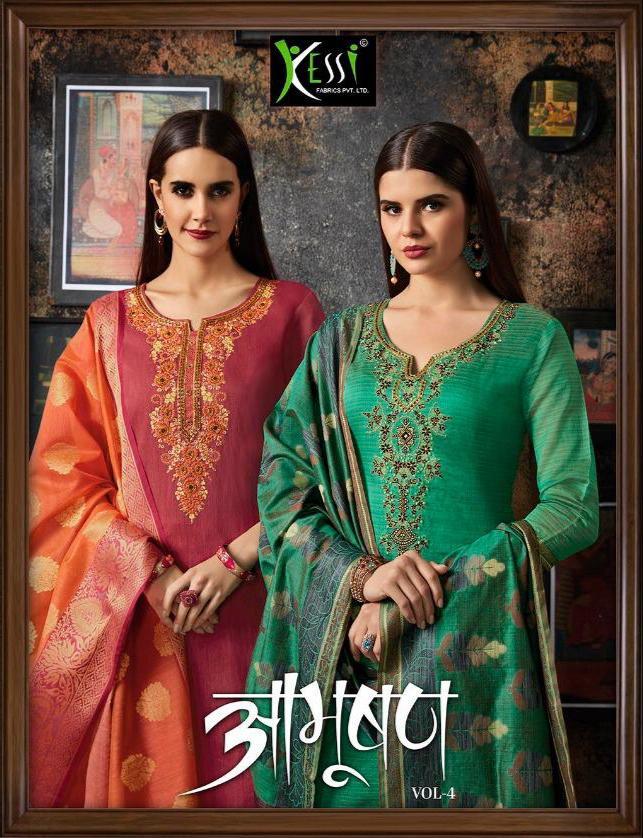 Kessi Febrics Abhushan Vol 4 Retailer Designe Suit Wholesale