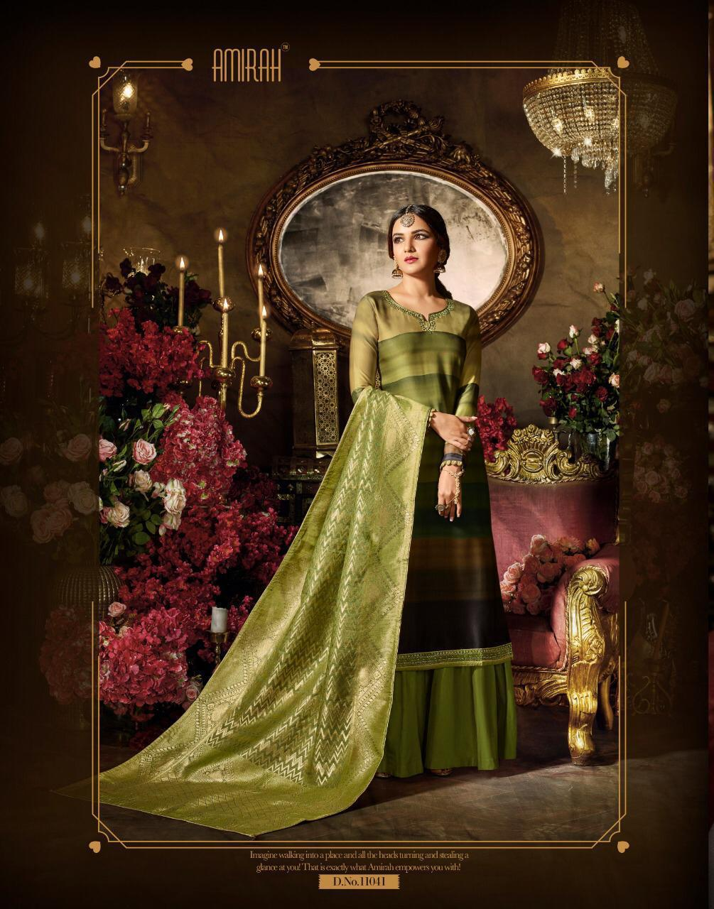 Amirah Vol 20 Satin Georgette Embroidered Suits Wholesale