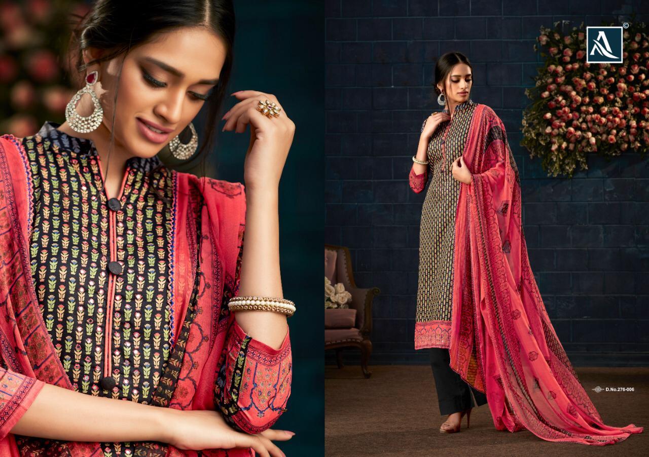 Alok Suits Yasmin Designer Zam Satin Suits Wholesale Mart