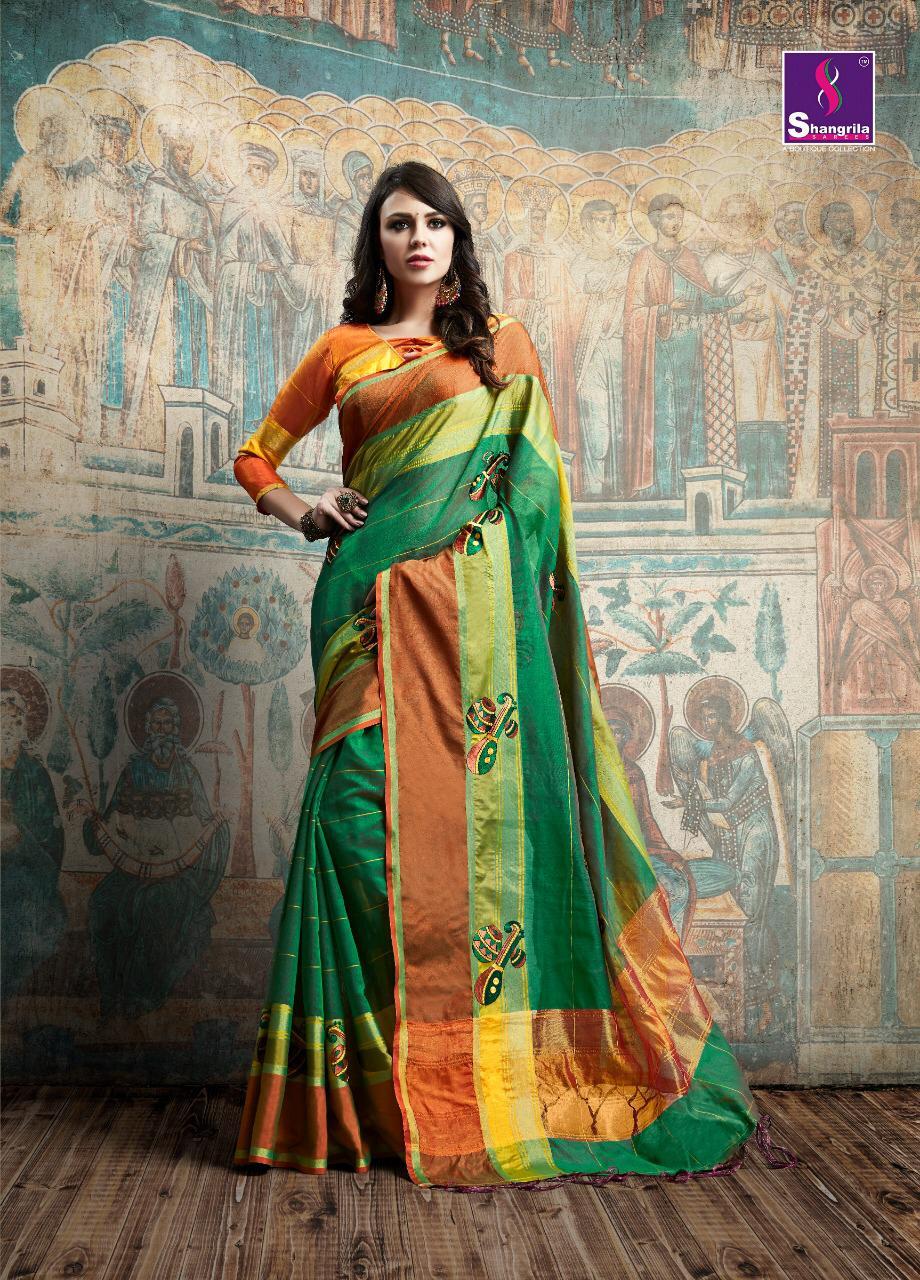 Shangrila Tanvee Silk Designer Partywear Sarees Wholesale