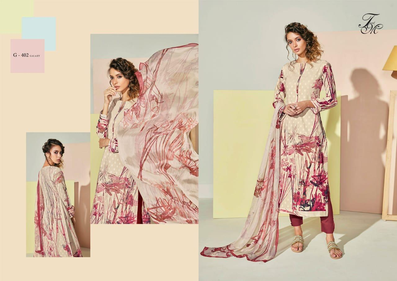 T&m Galaxy Digital Print Heavy Embroidery Suit Wholesale