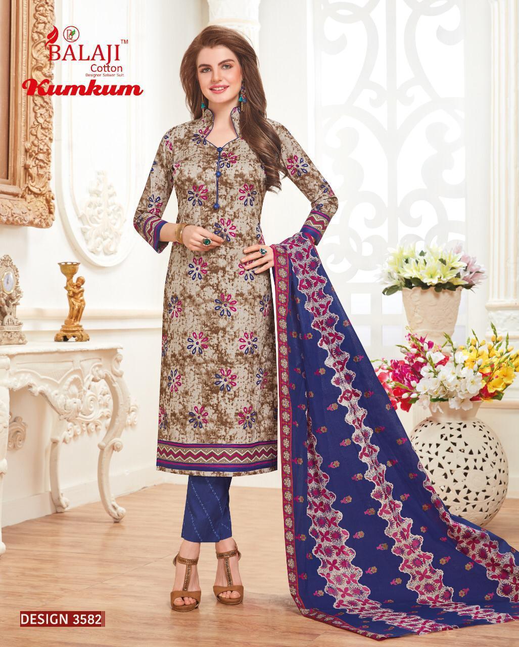 Balaji Cotton Kumkum 19 Cotton Designer Suits Wholesale