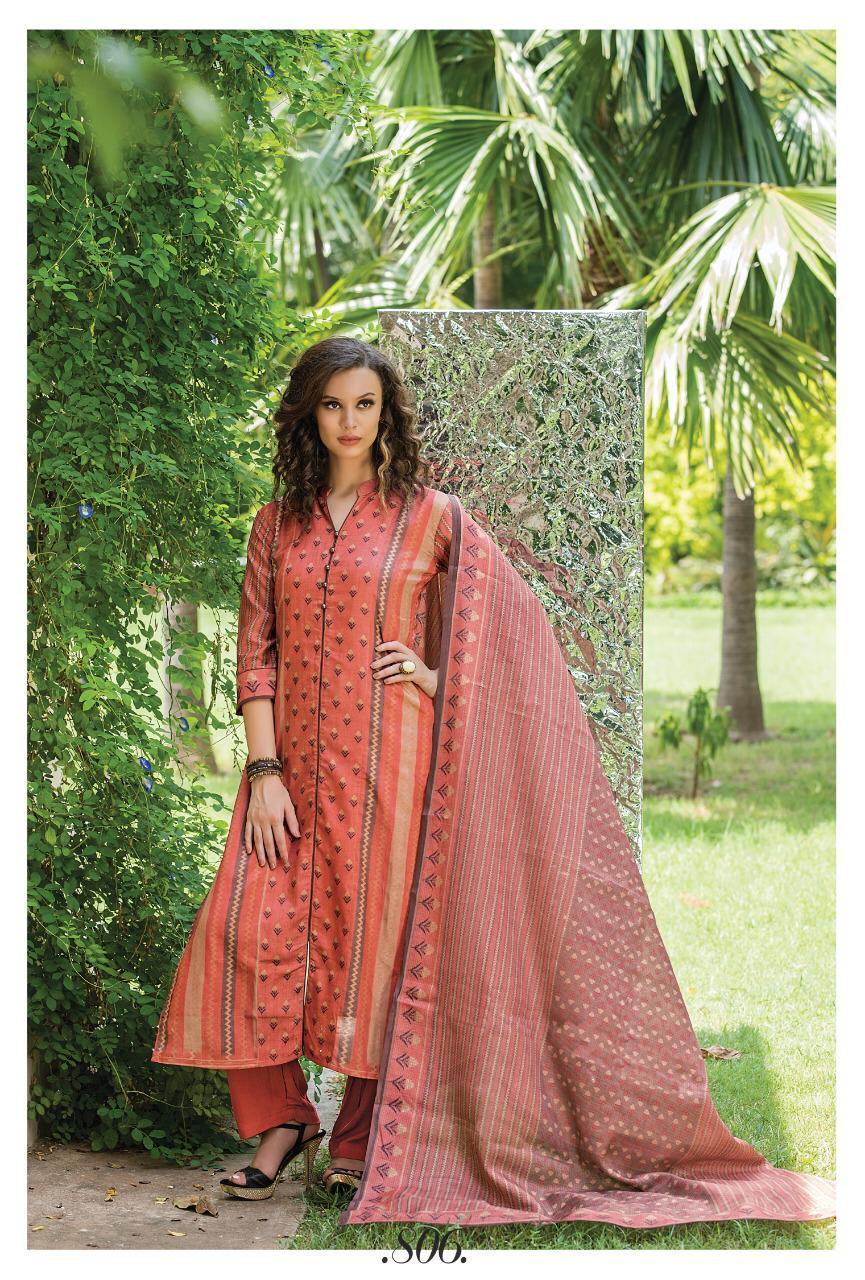 Musafir Sri Gazzal Designer Cotton Dress Materials Wholesal