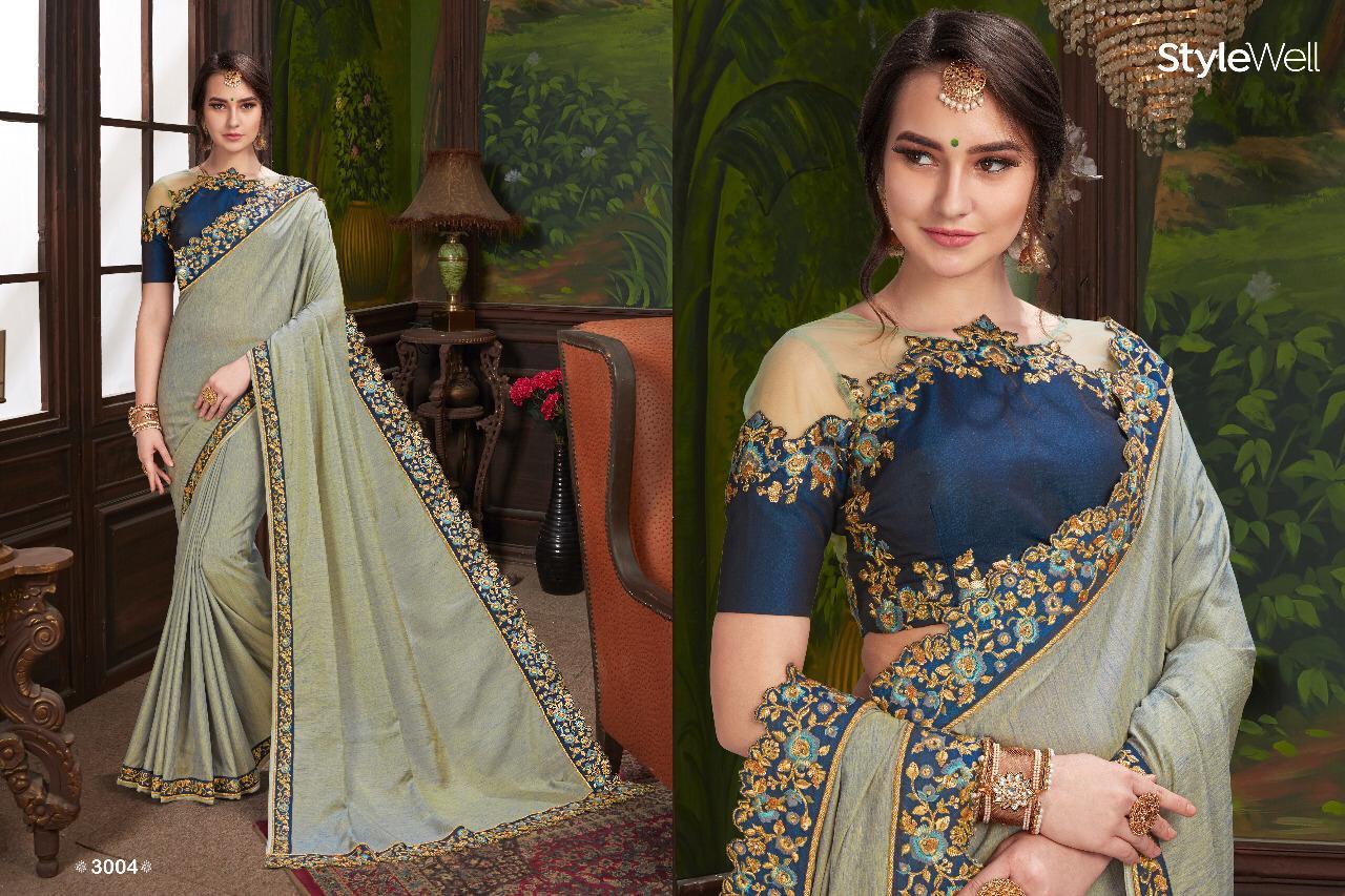 Style Well Swara Designer Silk Sarees Wholesale