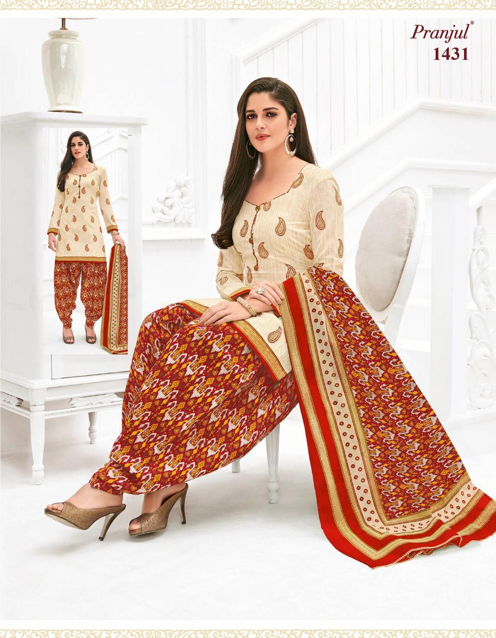 Pranjul Priyanka Vol 14 Cotton Unstitched Suits Wholesale Bo