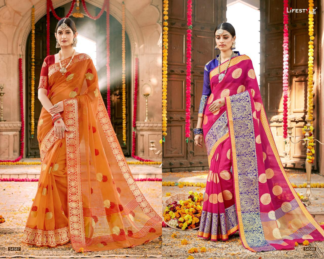 Lifestyle Kavita Vol 2 Talariya Cheks Sarees Wholesale