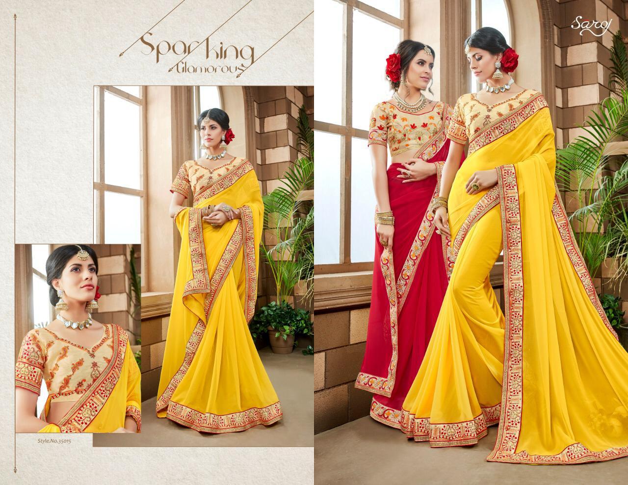 Saroj Sarees Anjali Vol 2 Georgette Sarees Wholesale
