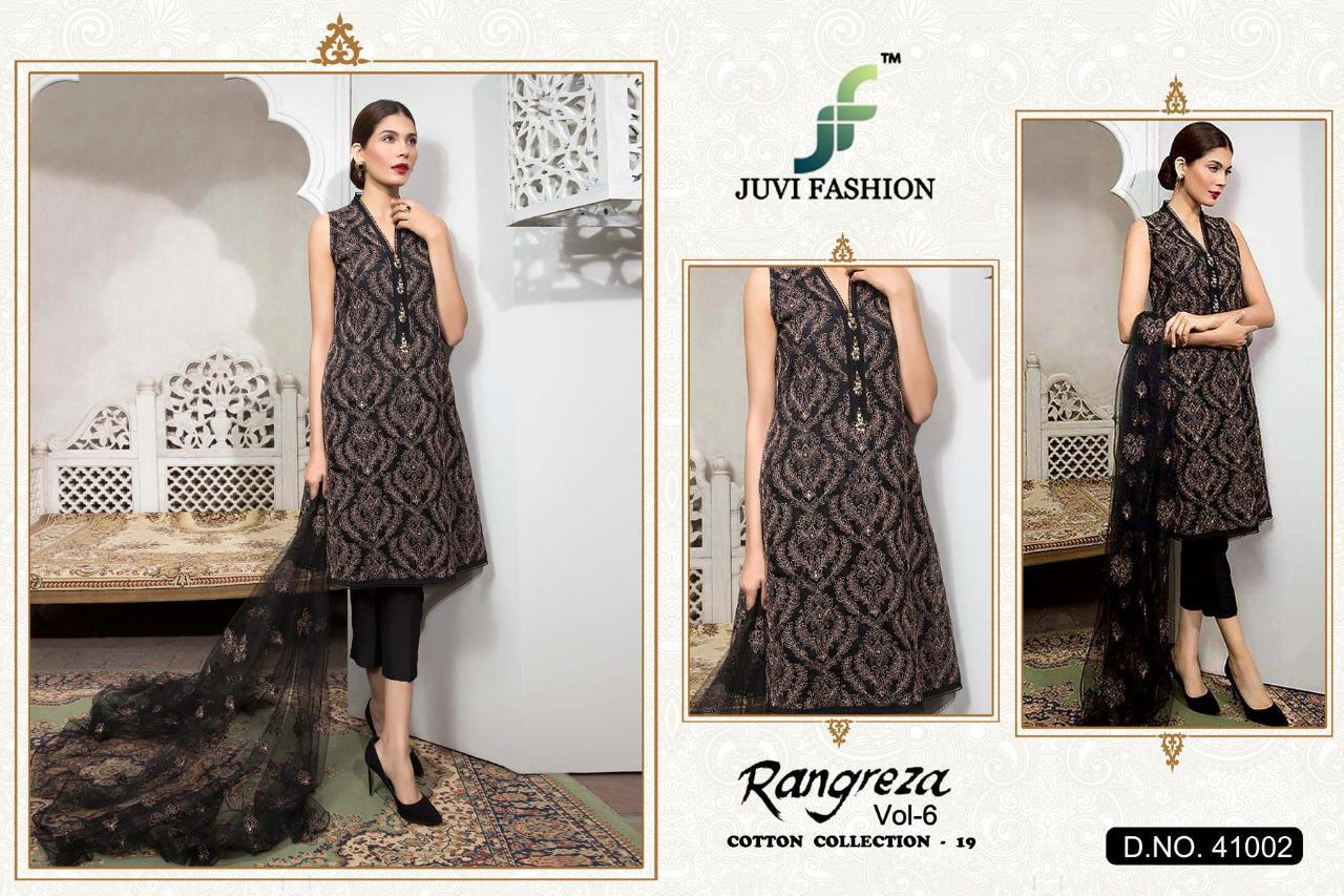 Juvi Fashion Rangreza Vol6 Designe Partywear Suits Wholesale