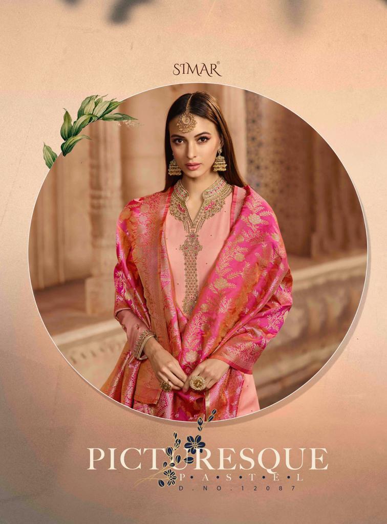 Glossy Aryavi Banarasi Designer Partywear Suits Wholesale