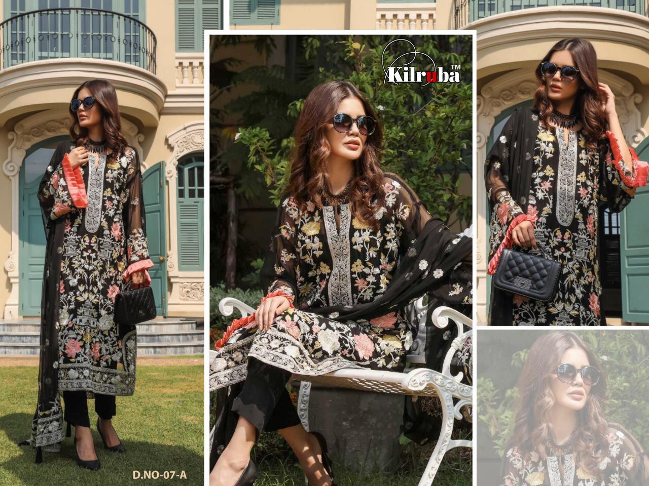 Kilruba Jannat Premium Georgette Embroidered Suits Wholesale