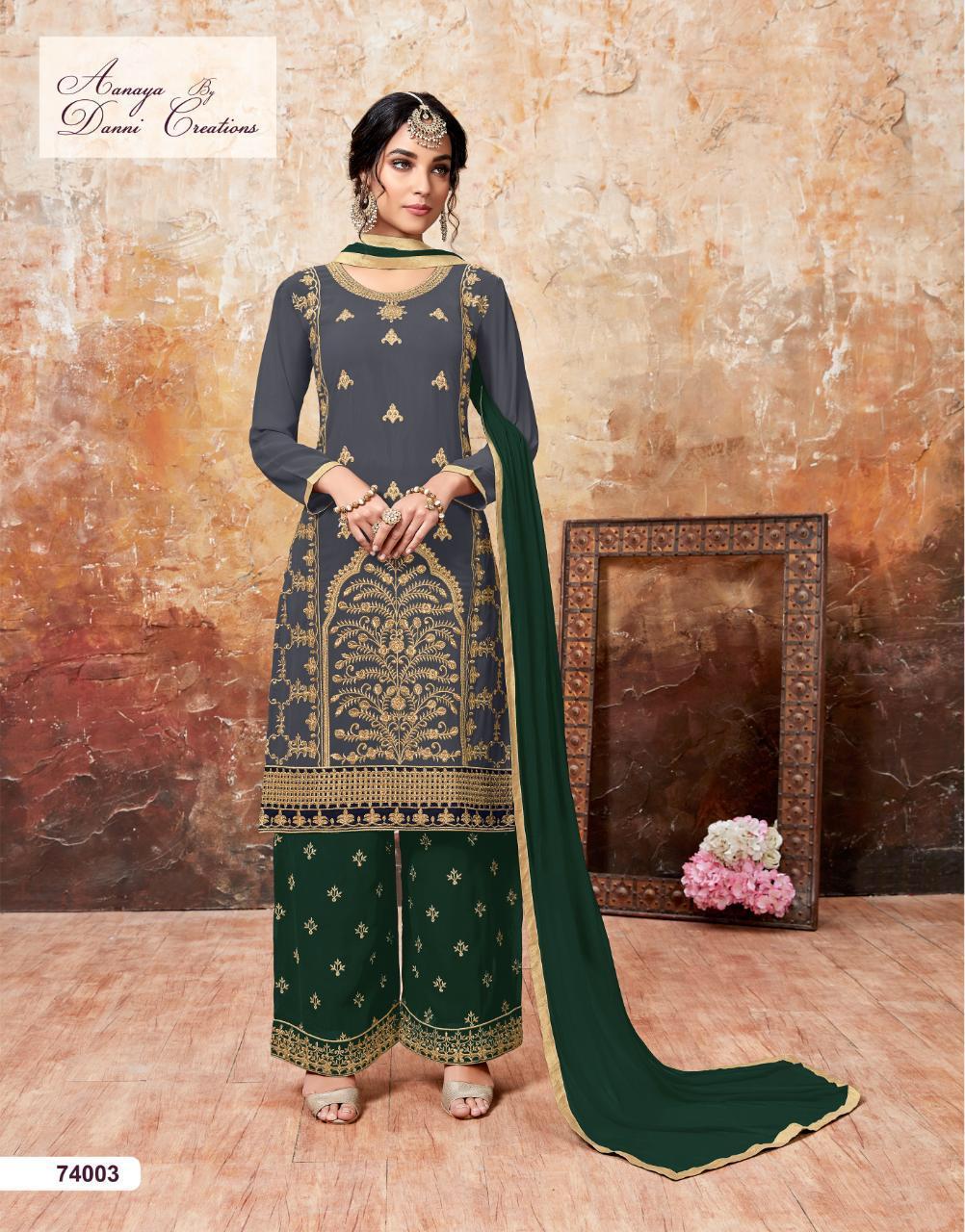 Aanaya 74000 Series Designer Partywear Suits Wholesale
