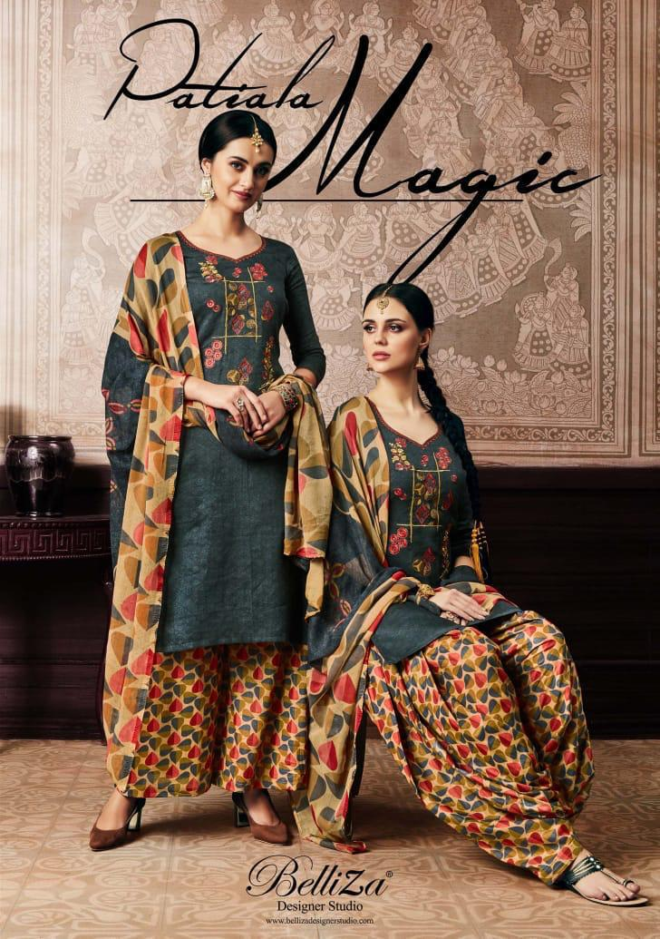 Belliza Patiala Magic Patiala Designer Suits Wholesale