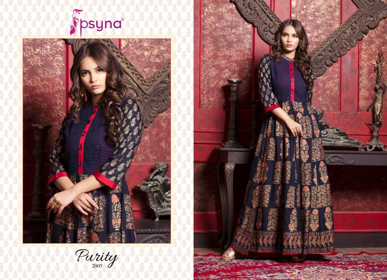 Psyna Purity Vol 2 Present Heavy Rayon Gowns Wholesale