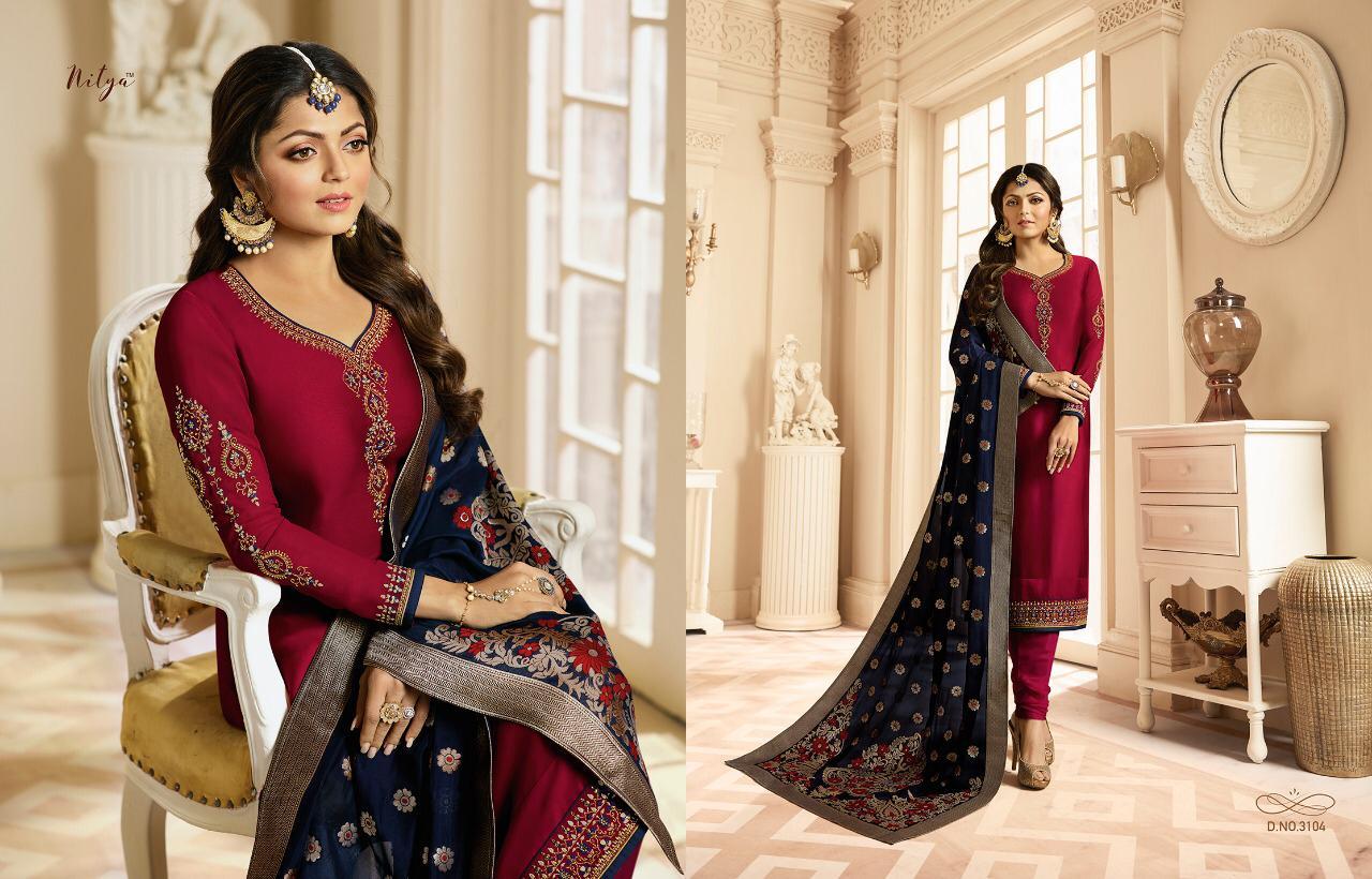 Lt Nitya Vol 131 Designer Heavy Decent Suits Wholesale