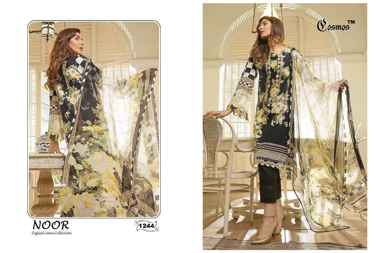 Cosmos Noor Digital Printed Designer Suits