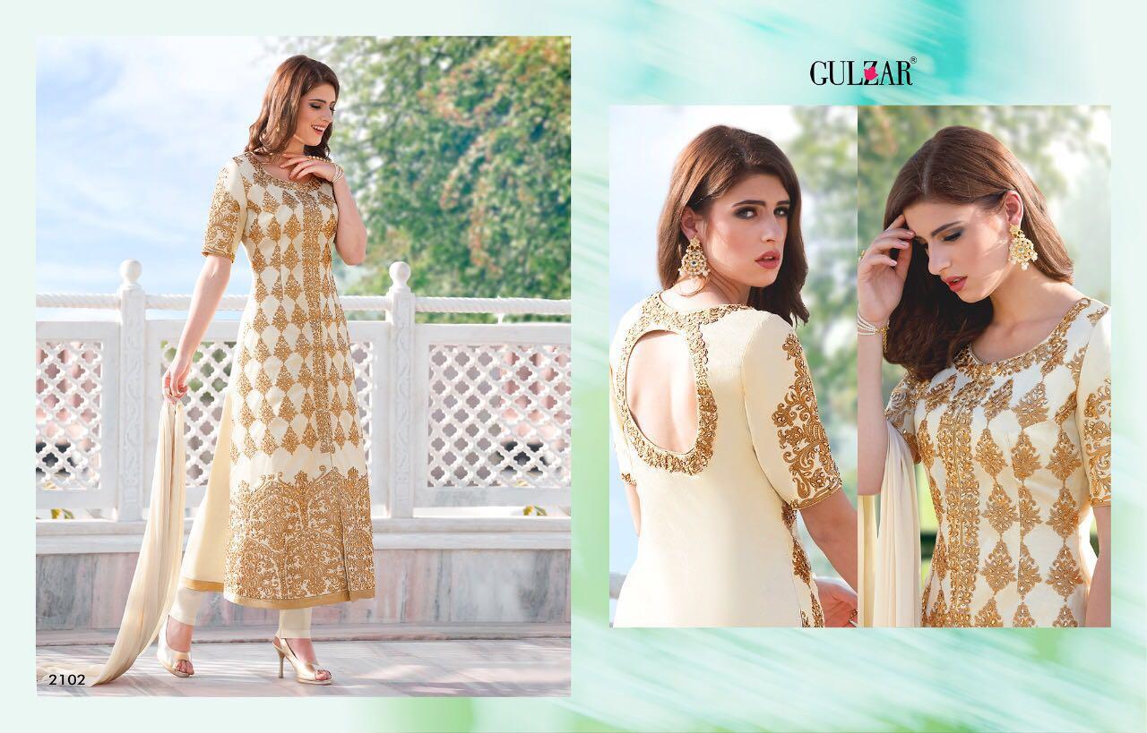 Gulzar Designer Partywear Suit In Single Rate