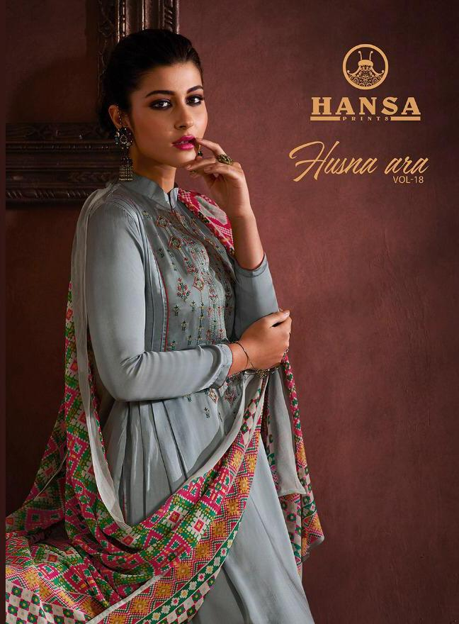 Hansa Husna Vol 18 Designer Suits In Cheapest Wholesale Rate