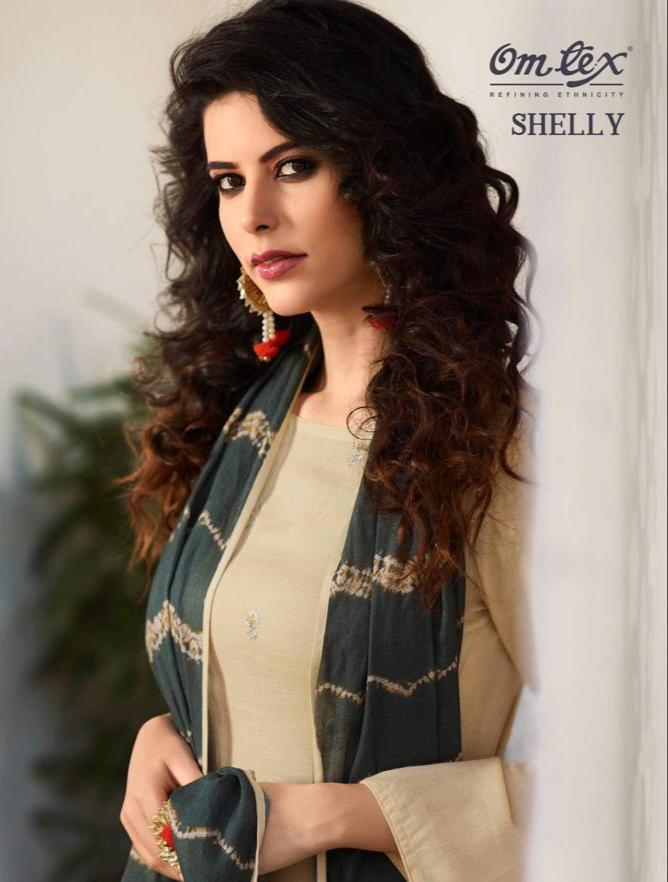 Omtex Shelly Double Layerd Embroiday Designer Suit Wholesale