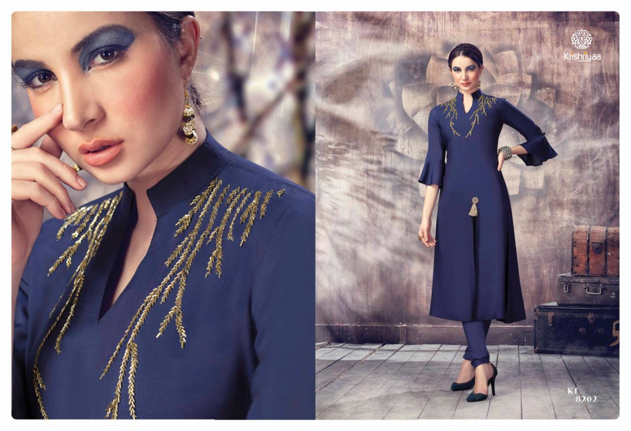 Krishriyaa Grace Handwork Kurtis In Cheapest Wholesale Rate
