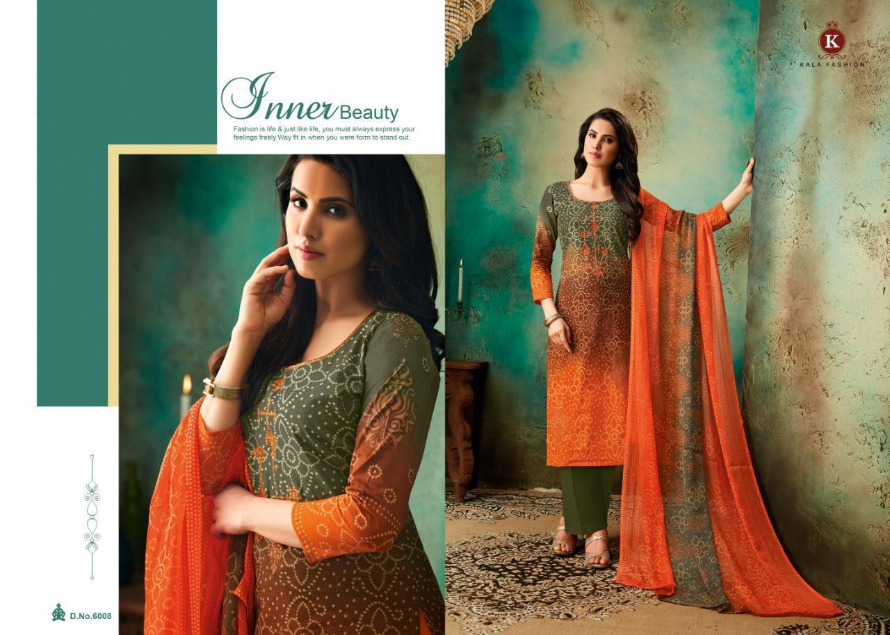 Kala Fashion Tanya Vol2 Cotton Self Embroidar Suit Wholesale
