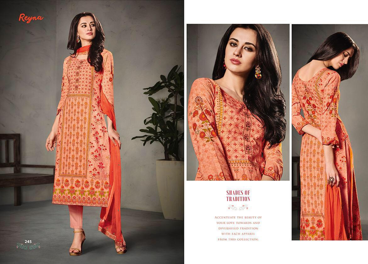Reyna Shades Of Tradition Print With Handwork Suit Wholesale