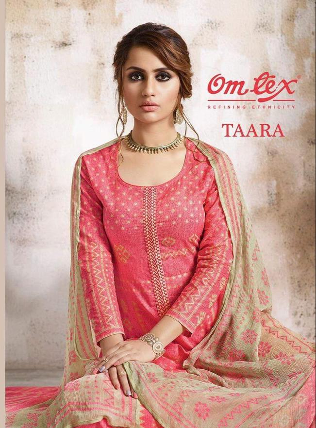 Omtex Taara Designer Lawn Cotton Suit In Best Wholesale Rate