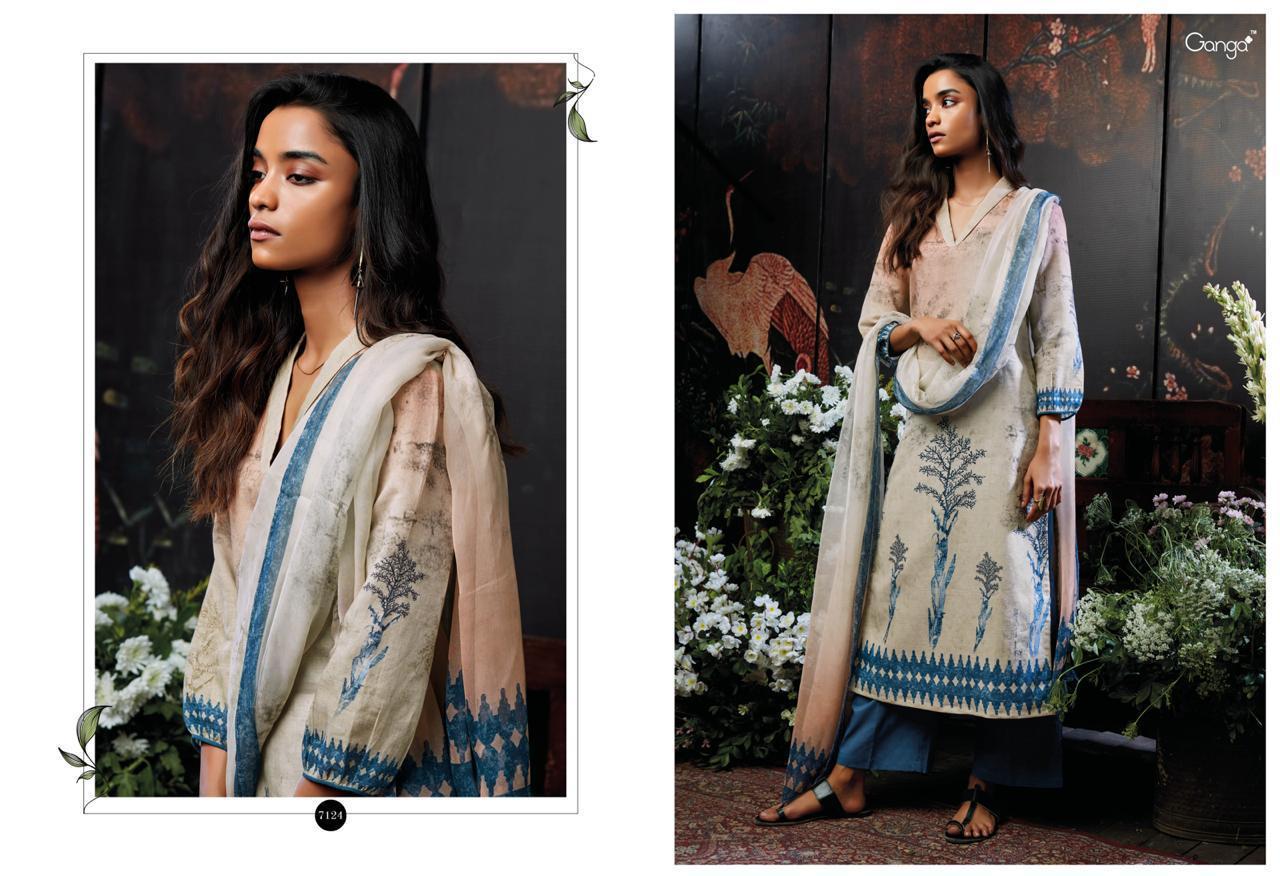 Gangaa Moonstruck Digital Printed Suits Wholesale