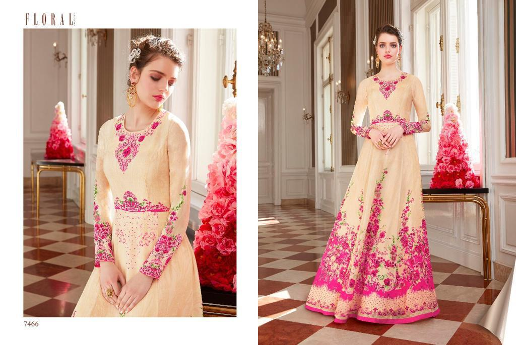 Jinaam Floral Raabta Designer Partywear Suits Wholesale