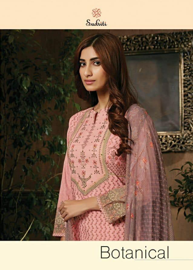 Sahiba Sudriti Botanical Designer Embroidary Suits Wholesale