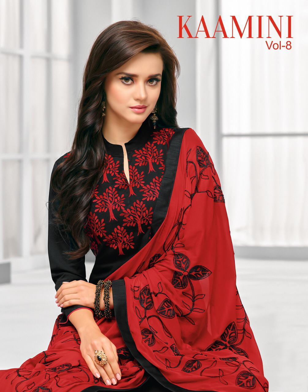 Kashmeera Kaamini Vol 8 Designer Cotton Work Suits Wholesale