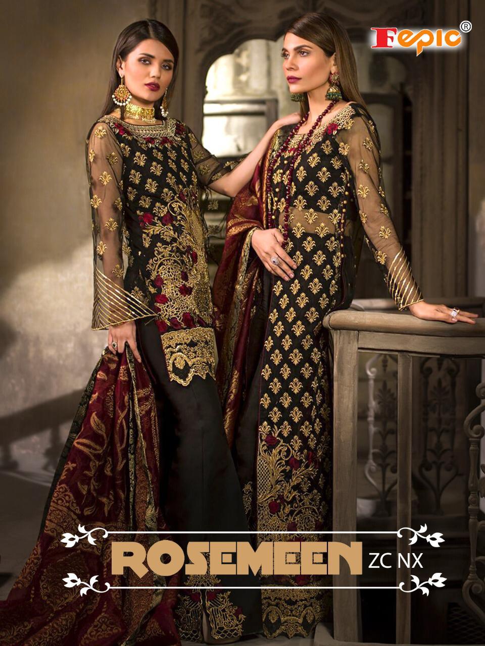 Fepic Rosmeen Zc Nx Designer Pakistani Suits Wholesale