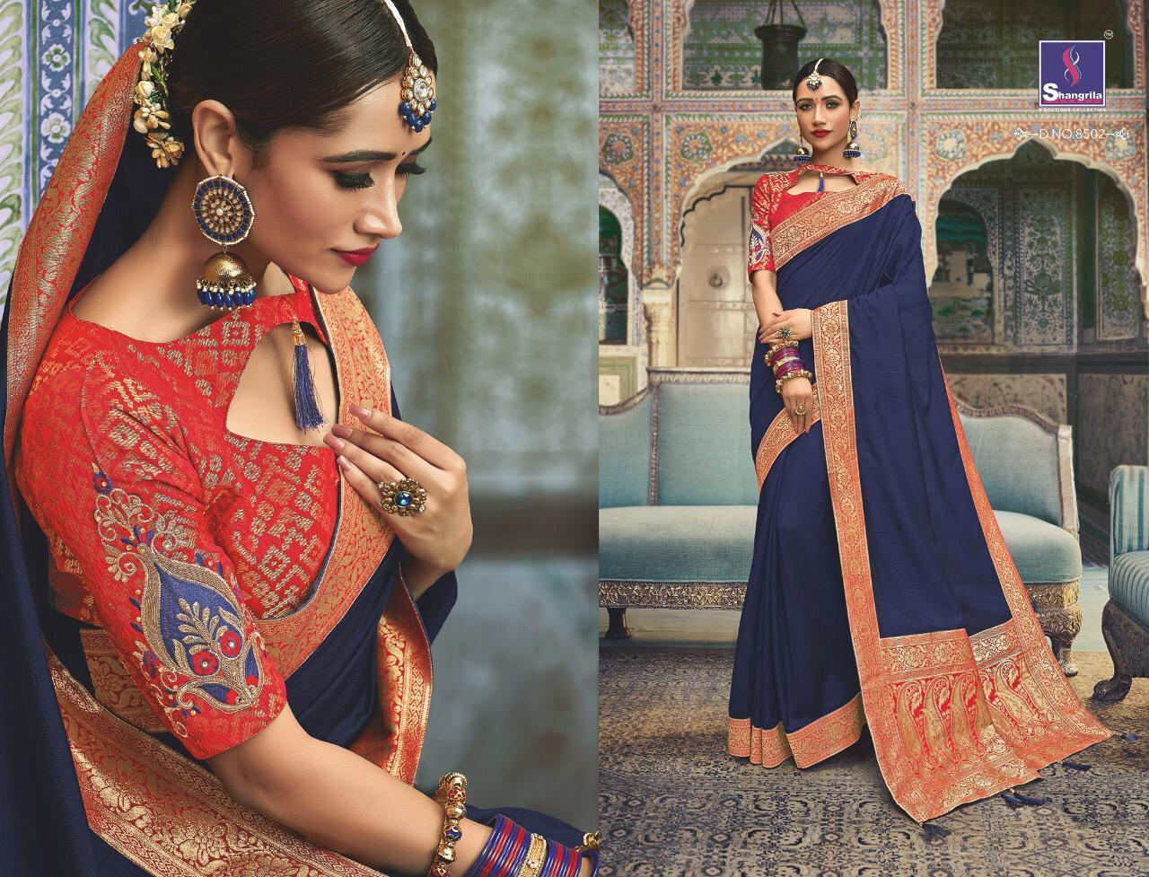 Shangrila Manyavar Designer Silk Sarees Best Wholesale Rate