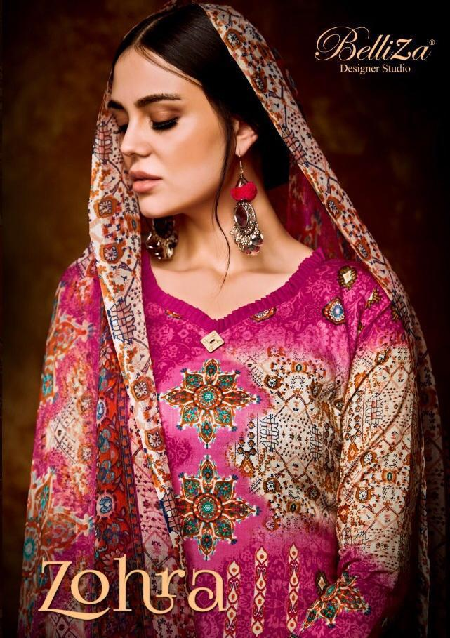 Belliza Zohra Designer Pure Cotton Suit Best Wholesale Rate