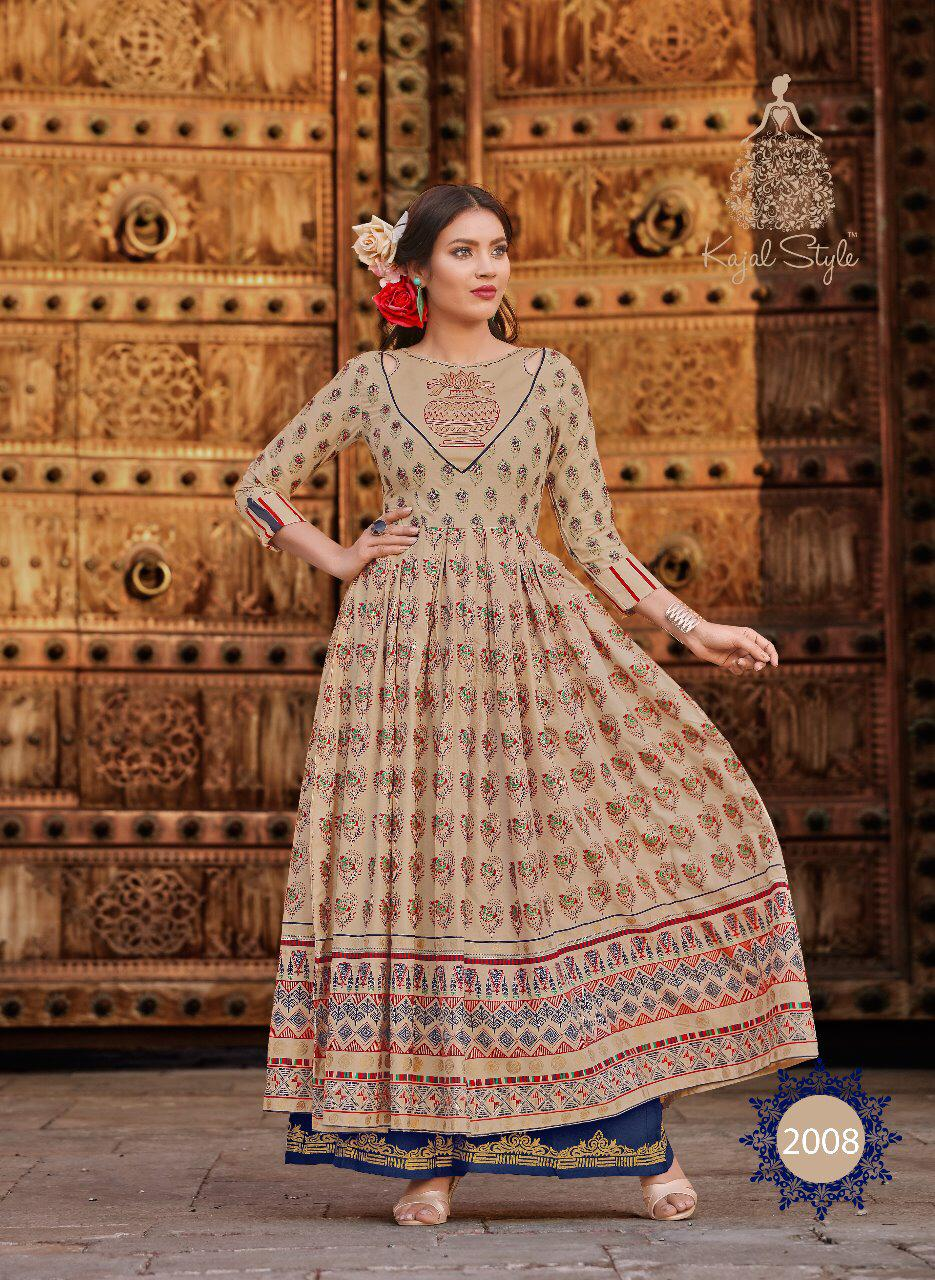 Kajal Style Fashion Colorbar Designer Gown Retail Wholesale