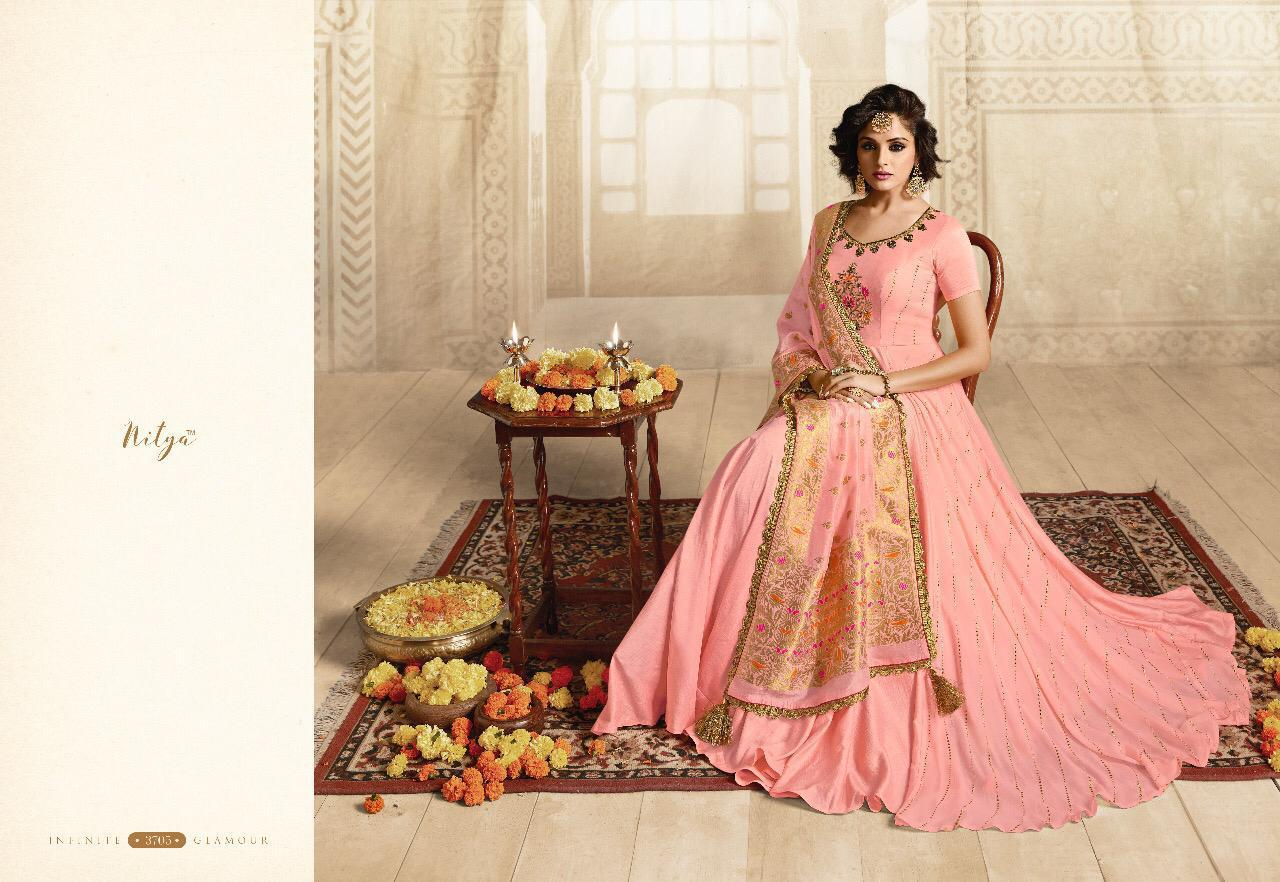 Lt Nitya 38nx Designer Partywear Gown Cheapest Wholsale Rate