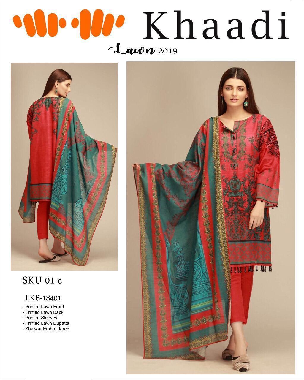 Khadi Lawn Pakistani Replica Designer Suit Wholesale