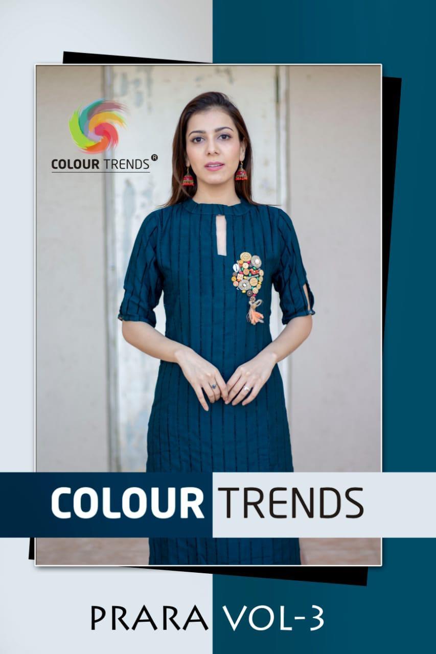 Colour Trendz Parara Vol 3 Designer Rayon Kurtis Wholesale