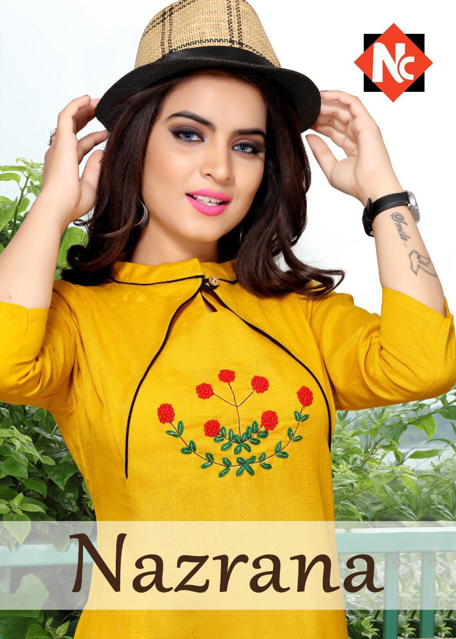 Neeti Nazrana Designer Cotton Slub Kurtis Wholesale Lot