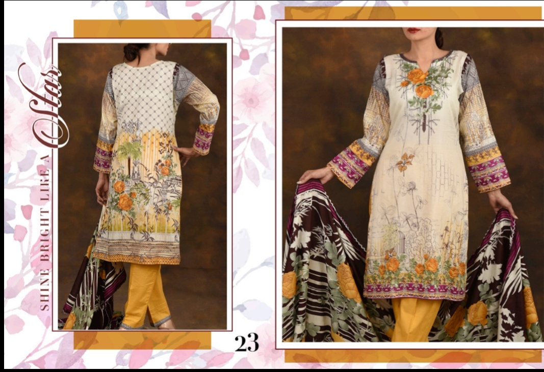 Bin Saeed Printed Lawn Designer Suit Cheapest Wholesale Rate