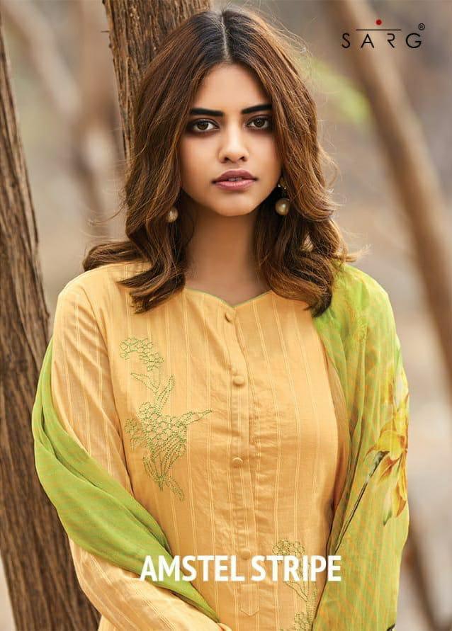 Sahiba Amstel Stripes Designer Suits Cheapest Wholesale Rate